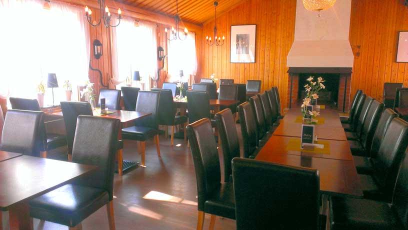 äta i restaurangen