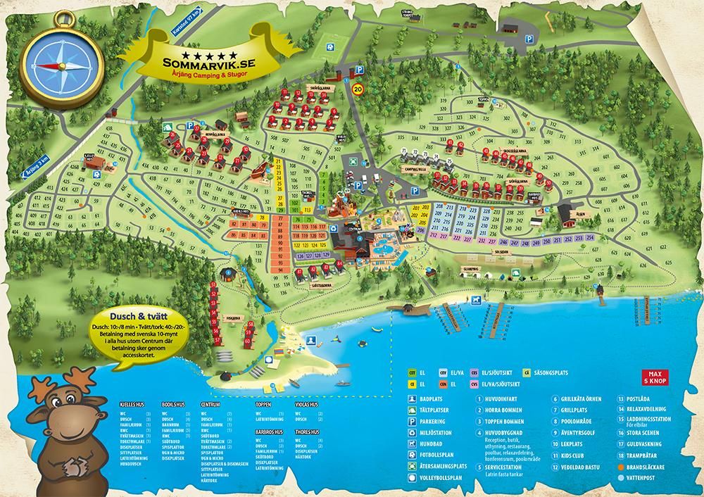 Karta Boras Camping.Femstjarning Camping Arjang Camping Stugor Sommarvik